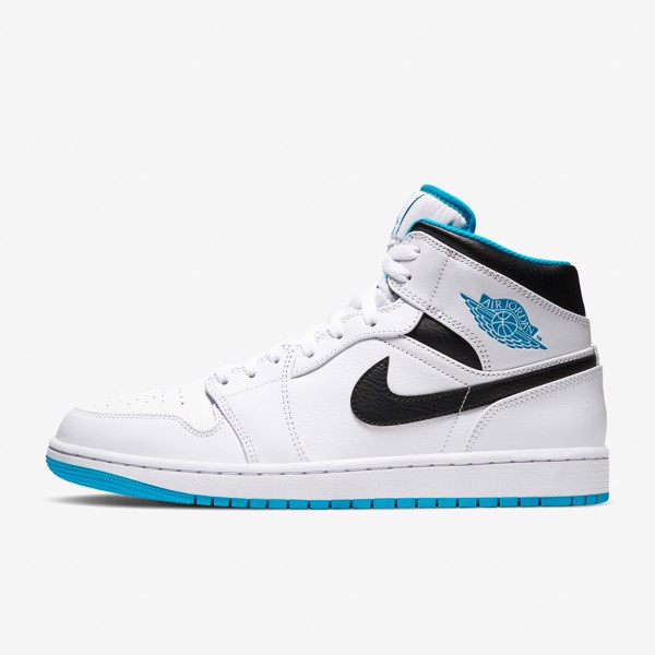 Air Jordan 1 Mid - White/Laser Blue