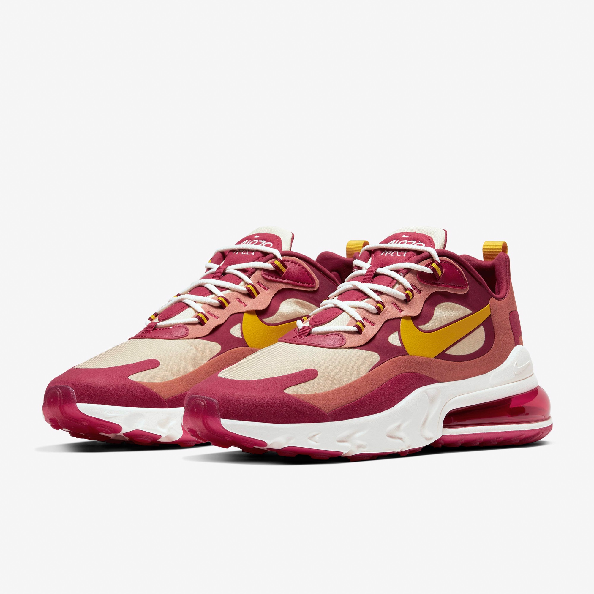 Nike Air Max 270 React - Noble Red/Team Gold