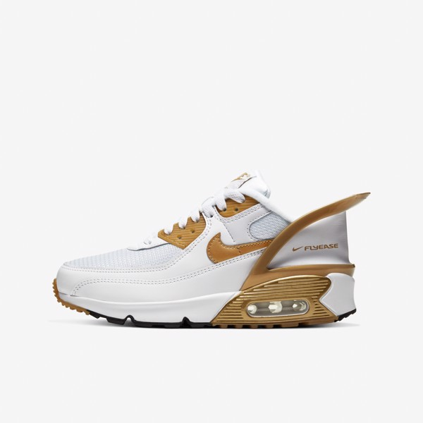 Nike Air Max 90 Flyease 'White/Gold'