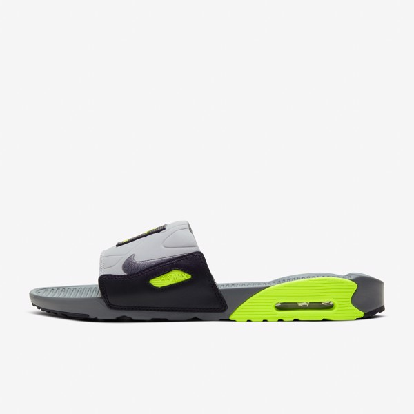 Nike Air Max 90 Slide - Smoke Grey/Volt