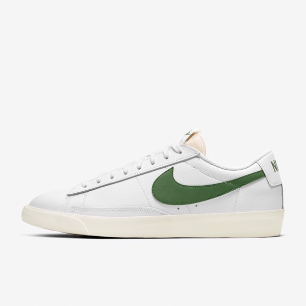Nike Blazer Low Leather - White/Forest Green