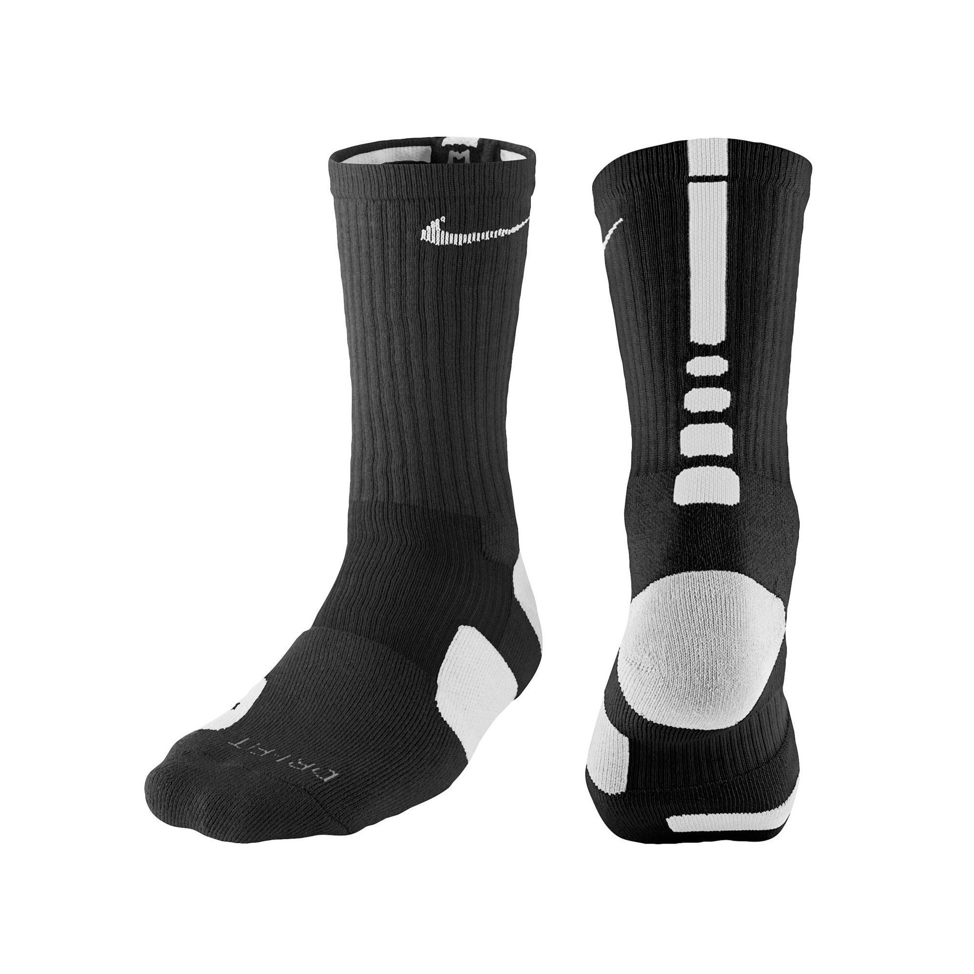 Nike Elite 1.0 Crew Basketball Socks - Black/Grey