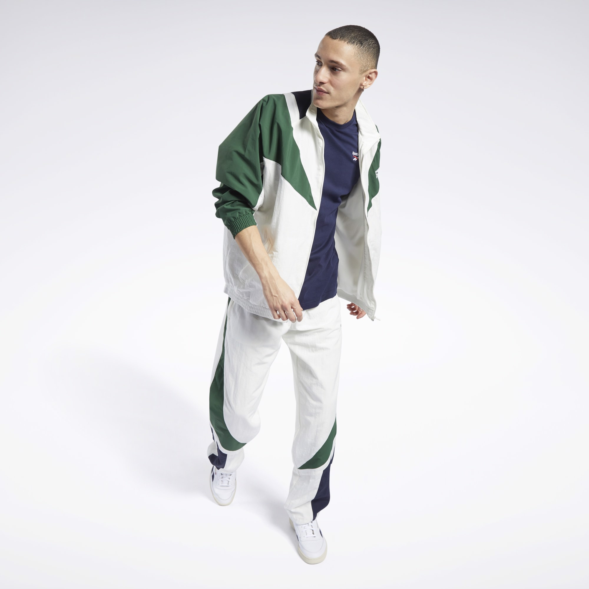 Reebok Classics Twin Vector Track Jacket 'Chalk/Green'