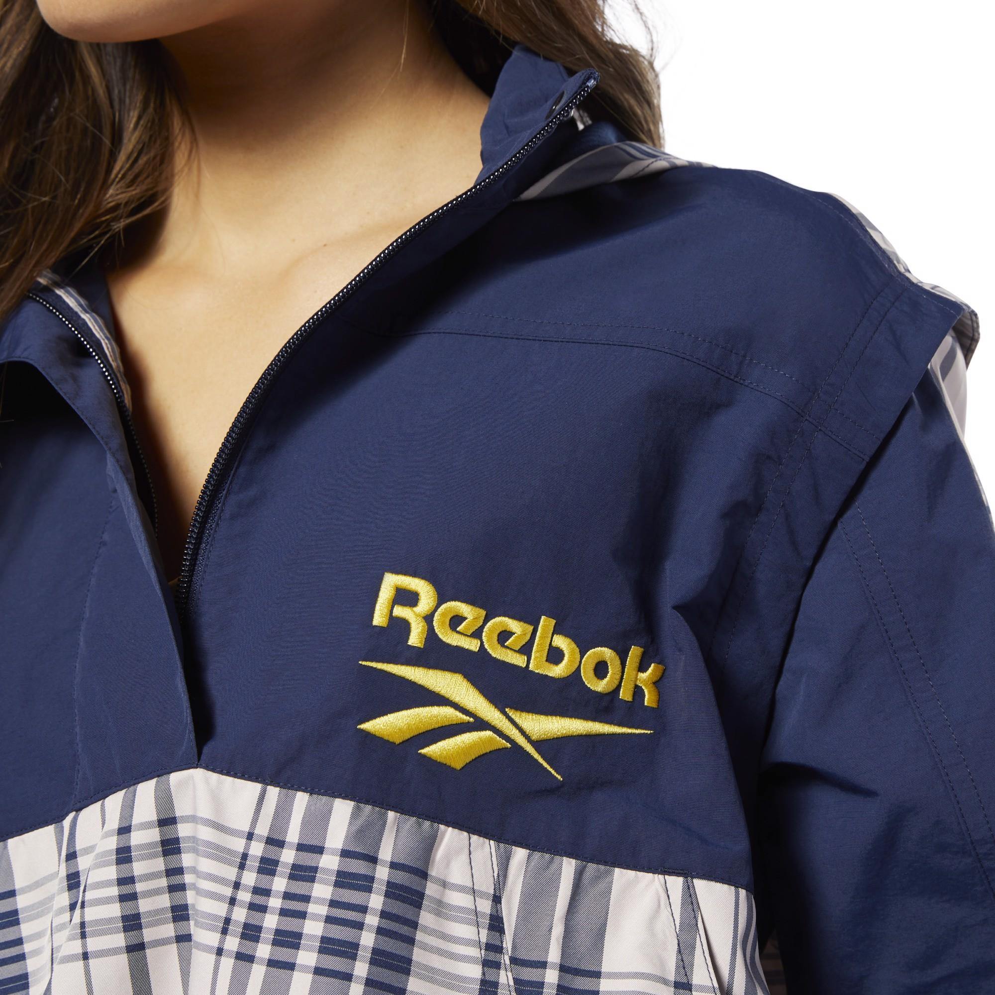 Reebok Classics Vector Jacket - Buff/Collegiate Navy
