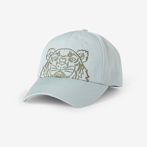 KENZO Canvas Kampus Tiger Cap - Sage Green