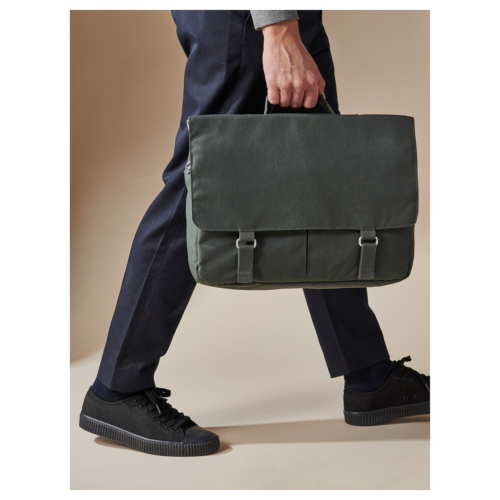 IKEA DRÖMSÄCK Messenger Bag - Olive Green