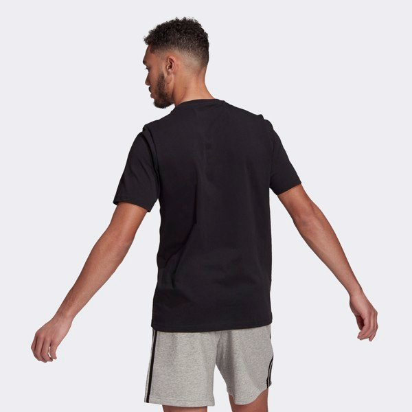 adidas Essentials Embroidered Small Logo Tee - Black