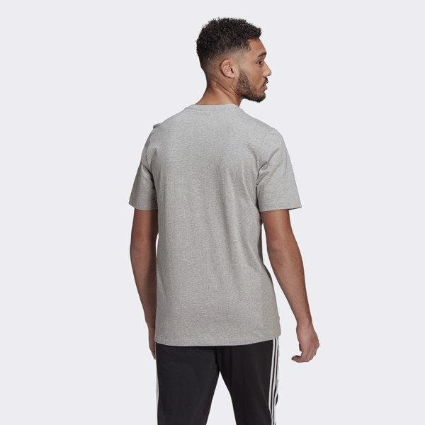 adidas Essentials Embroidered Small Logo Tee - Grey Heather