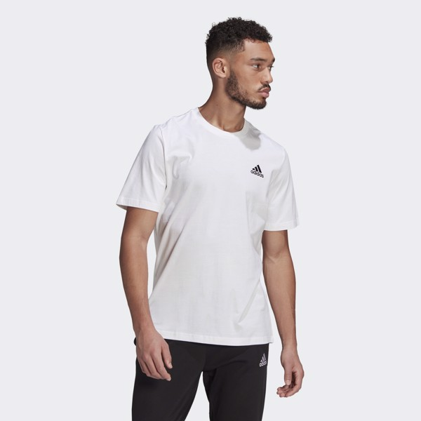 adidas Essentials Embroidered Small Logo Tee - White