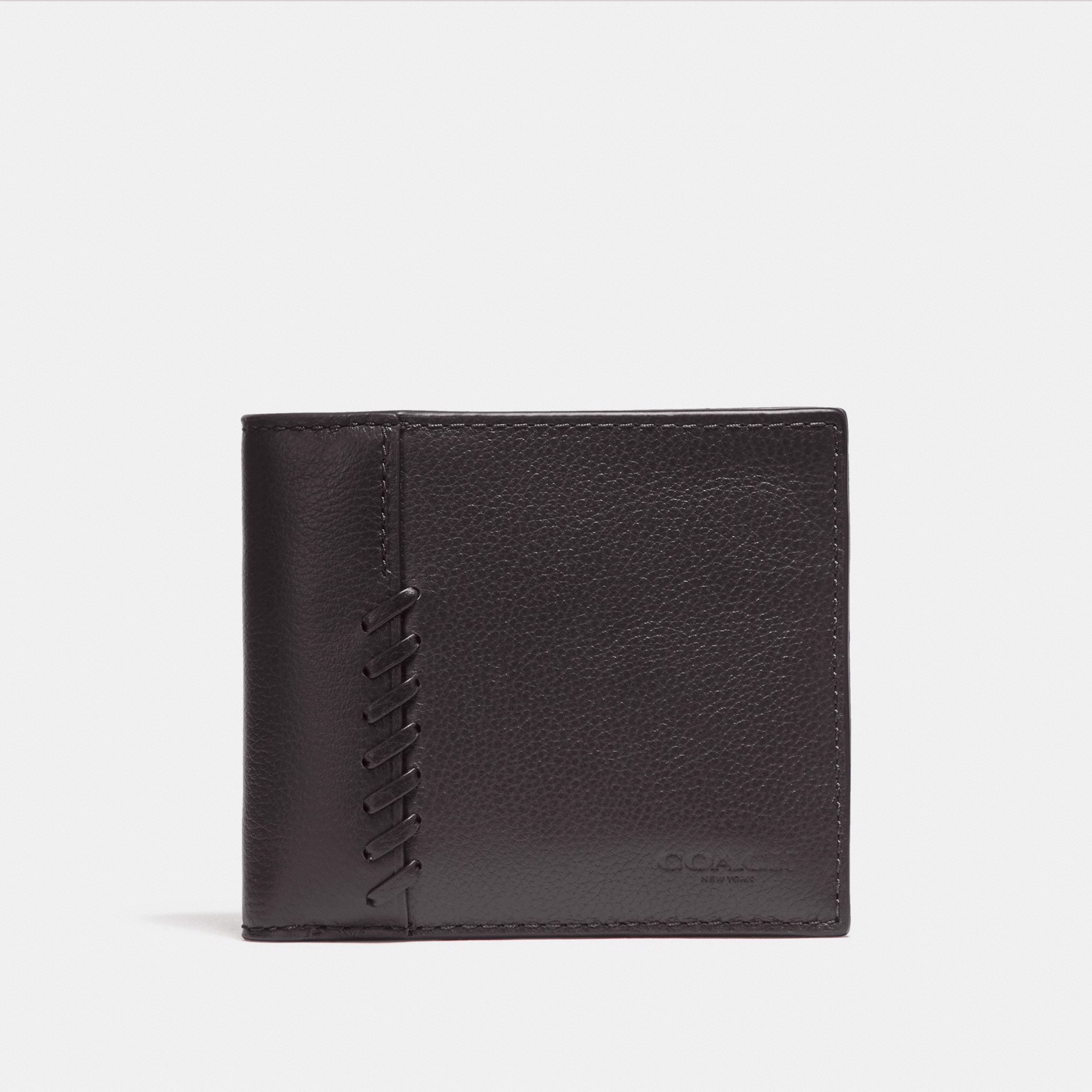 Coach 3-In-1 Wallet With Baseball Stitch 'Black'