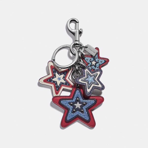 Coach American Star Cluster Bag Charm
