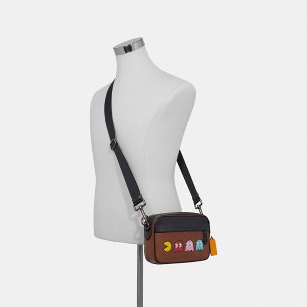Coach Graham Crossbody With Pac-Man Motif - Saddle