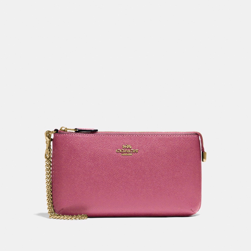 Coach Large Wristlet 'Rouge/Gold'