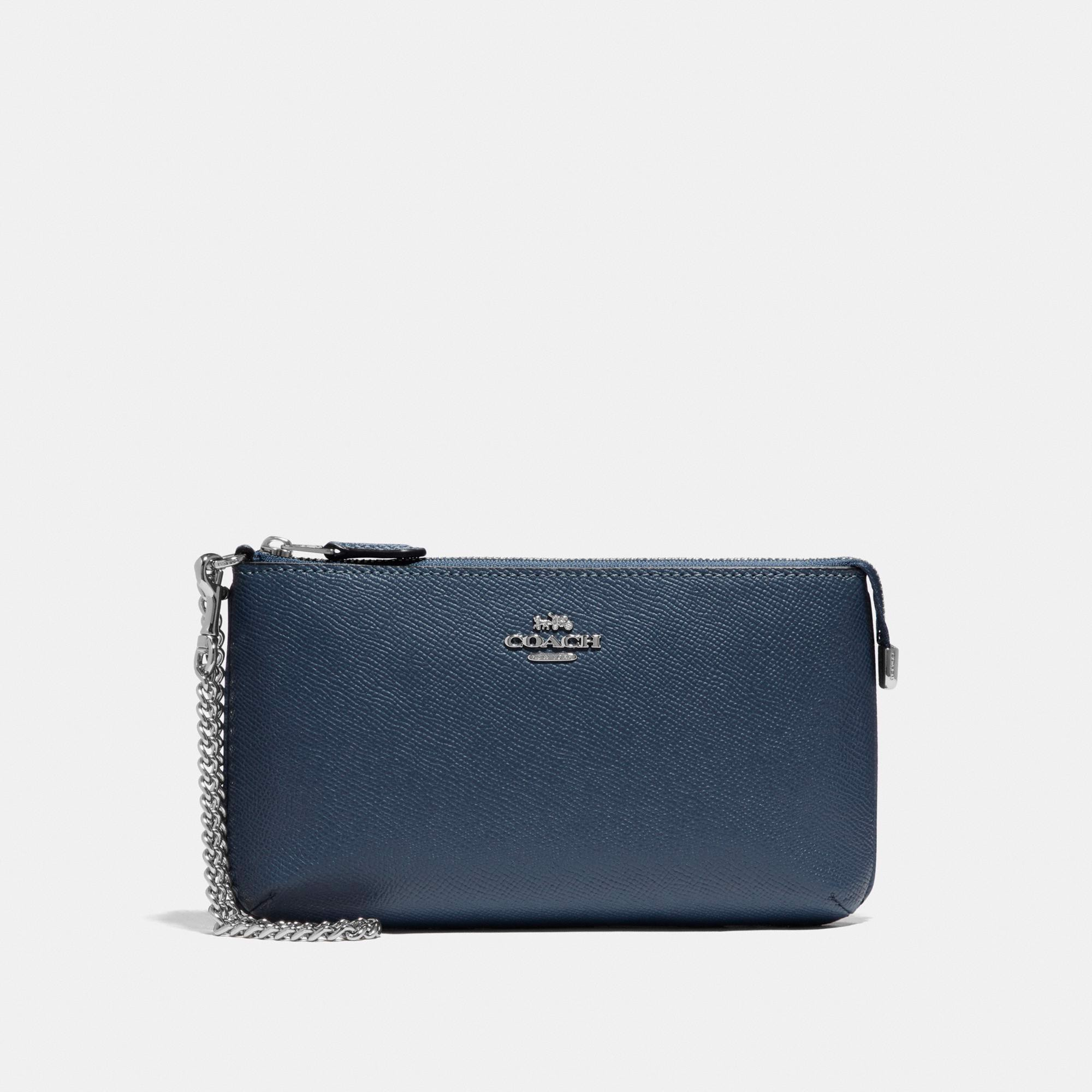 Coach Large Wristlet 'Denim/Silver'