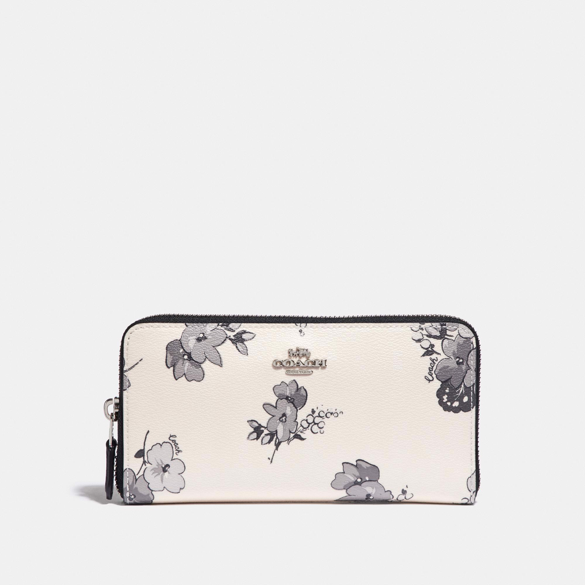 Coach Accordion Zip Wallet with Fairy Tale Floral Print