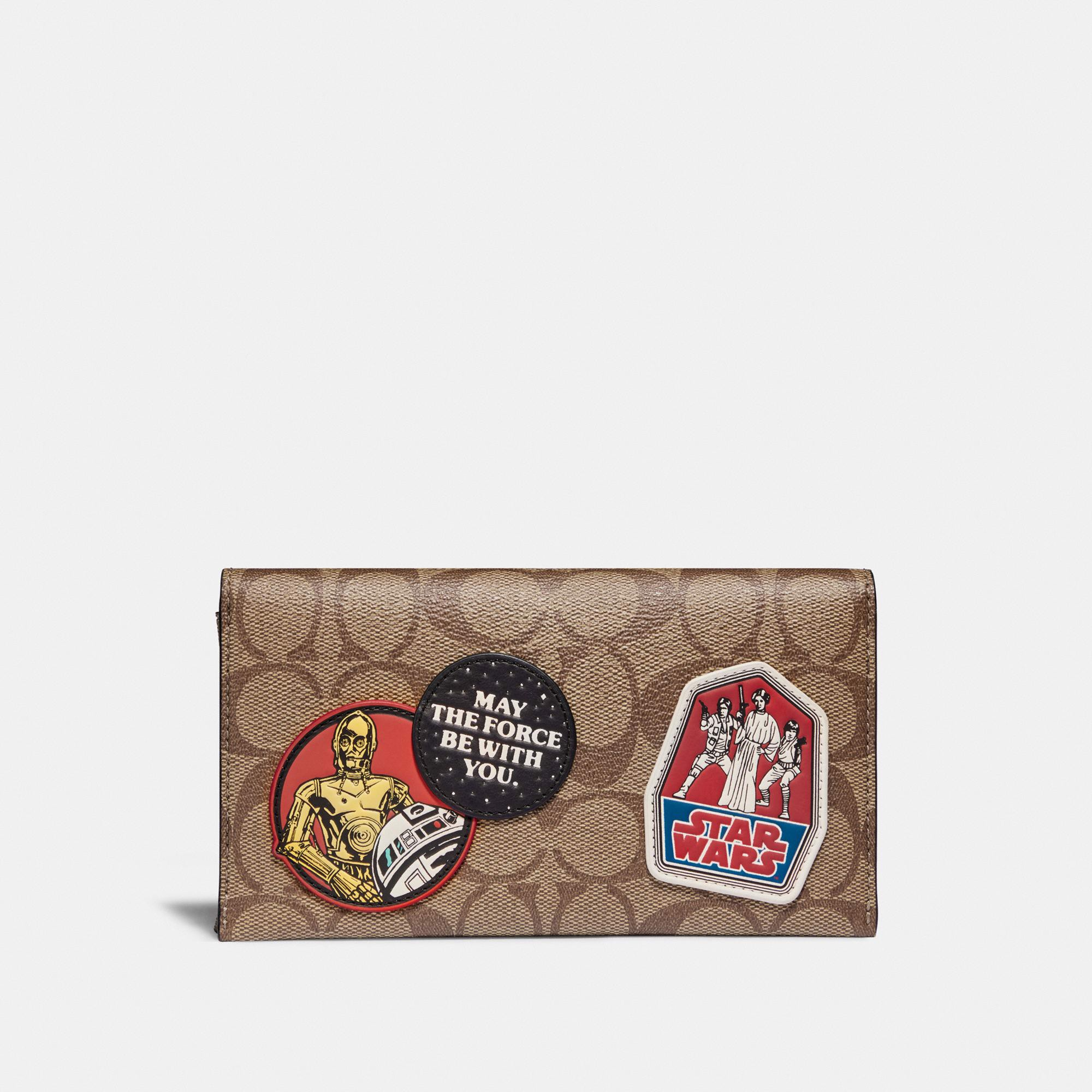 Star Wars x Coach Universal Phone Case In Signature Canvas With Patches
