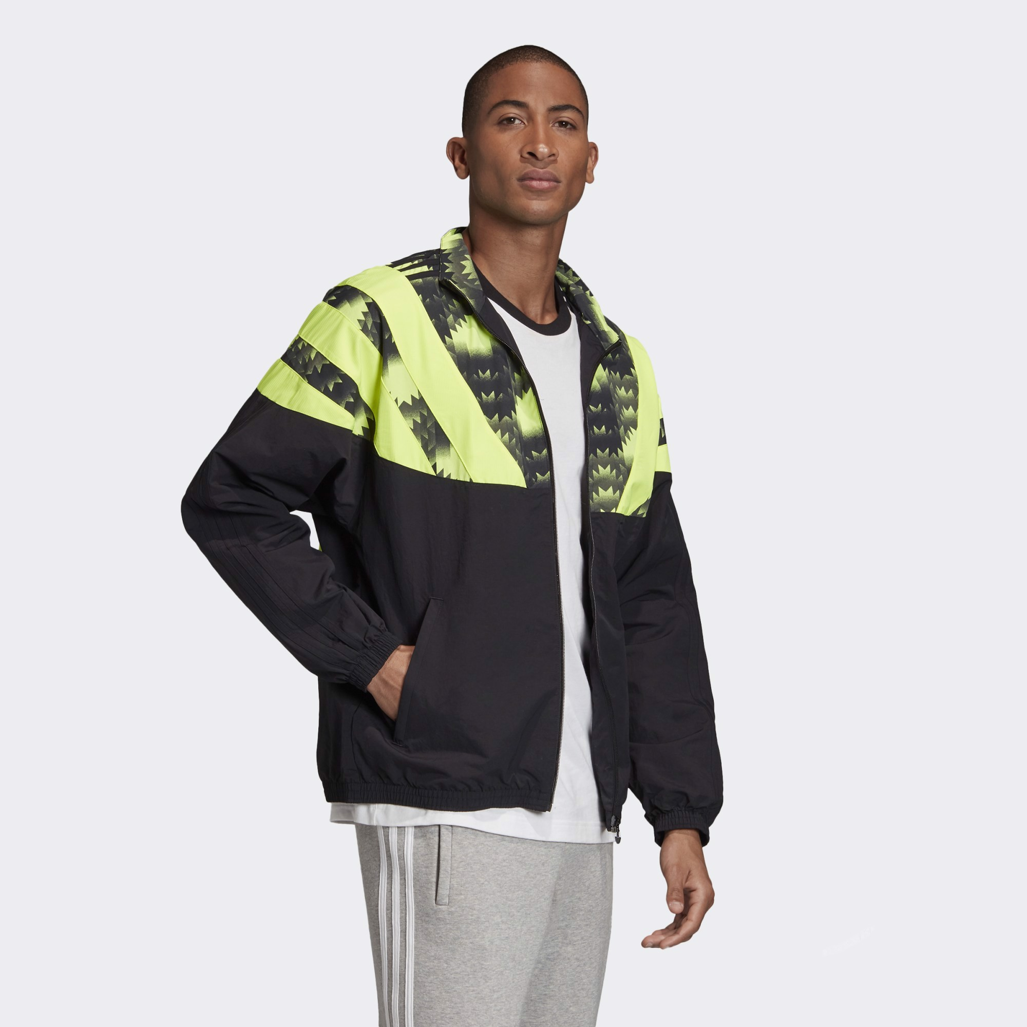 adidas Football Track Top - Black/Green