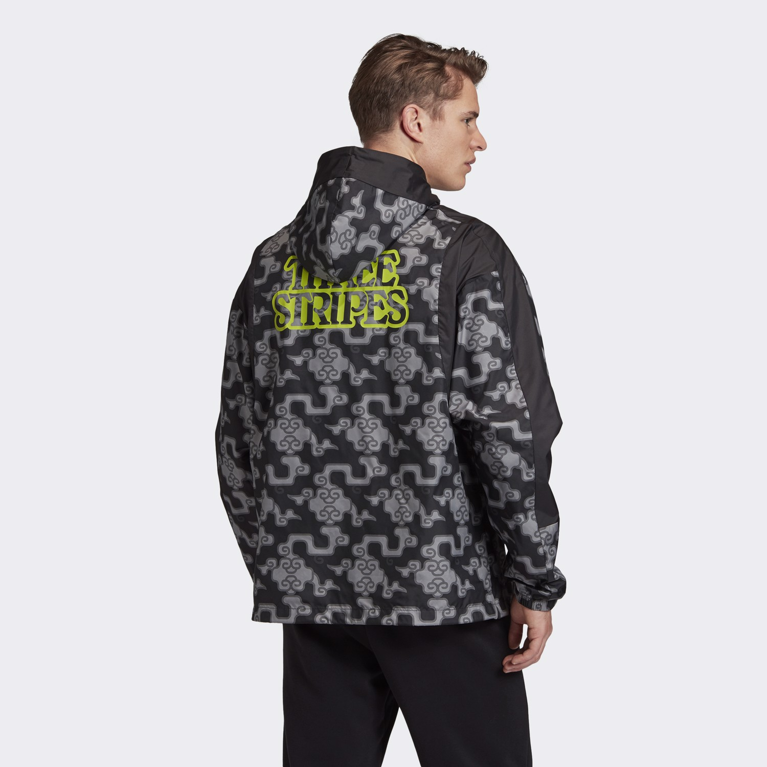 adidas Cloud Print Windbreaker - Black