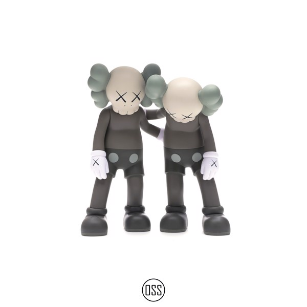 Tượng KAWS Along The Way Vinyl Figure - Brown