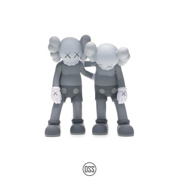Tượng KAWS Along The Way Vinyl Figure - Grey