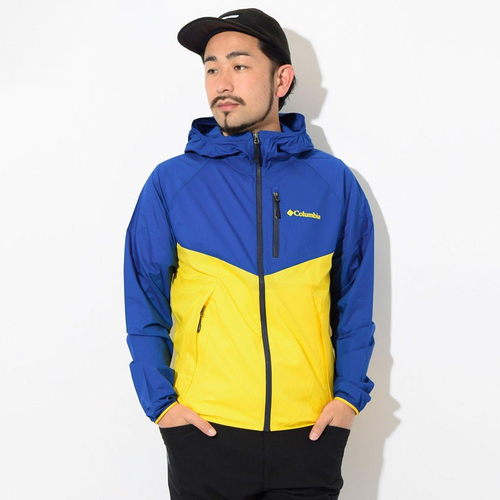 Columbia Square Hike Jacket 'Blue/Yellow'
