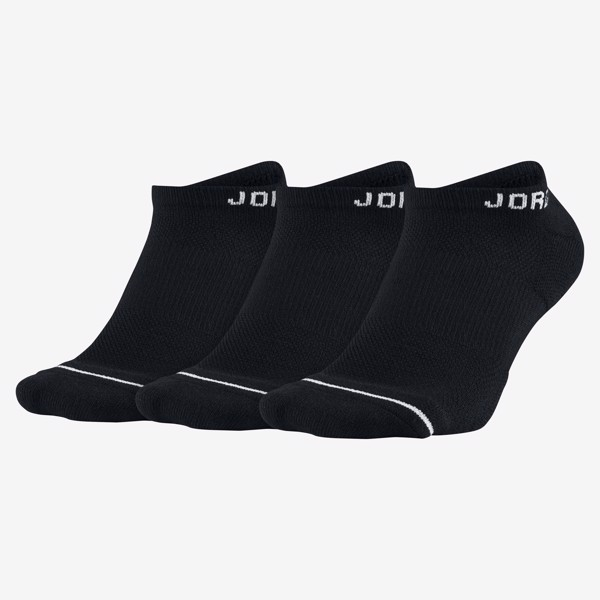 Jordan Everyday Max No-Show Socks (6 Pairs) - Black