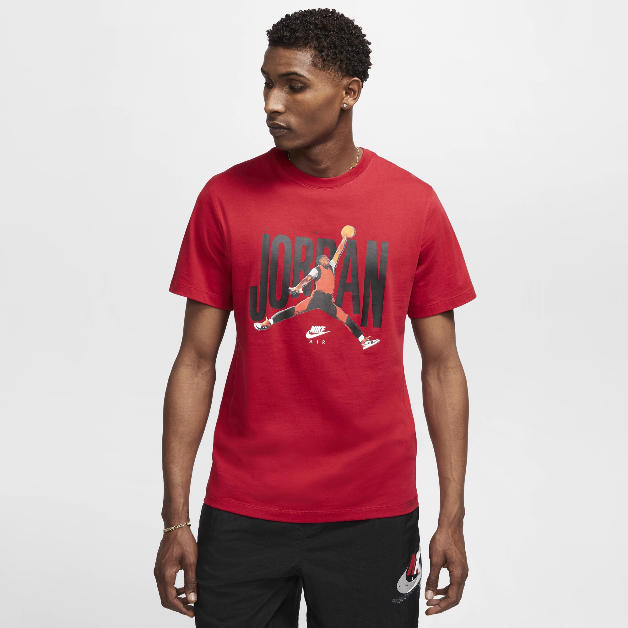 Jordan Short-Sleeve Crew 'Flight Muse' - Red
