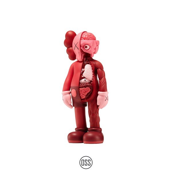 Tượng KAWS Companion Flayed Open Edition Vinyl Figure - Blush