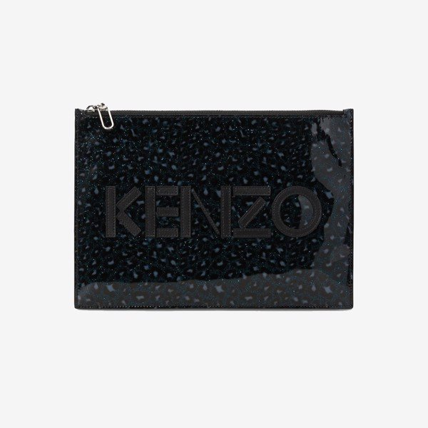 KENZO A4 Logo Leopard Clutch - Holiday Capsule