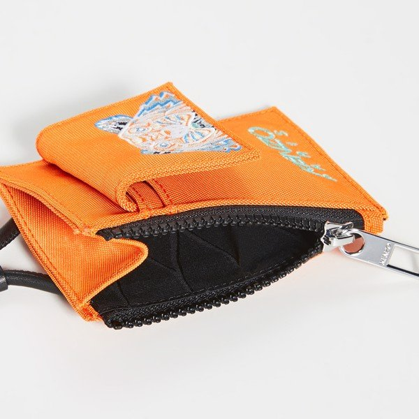 KENZO Kampus Tiger Cardholder With Strap - Orange