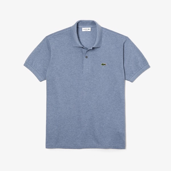 Marl Lacoste Classic Fit L.12.12 Polo Shirt - Blue Chine