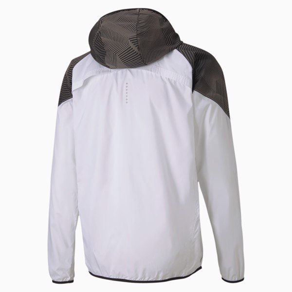 Puma Last Lap Graphic Running Jacket - White