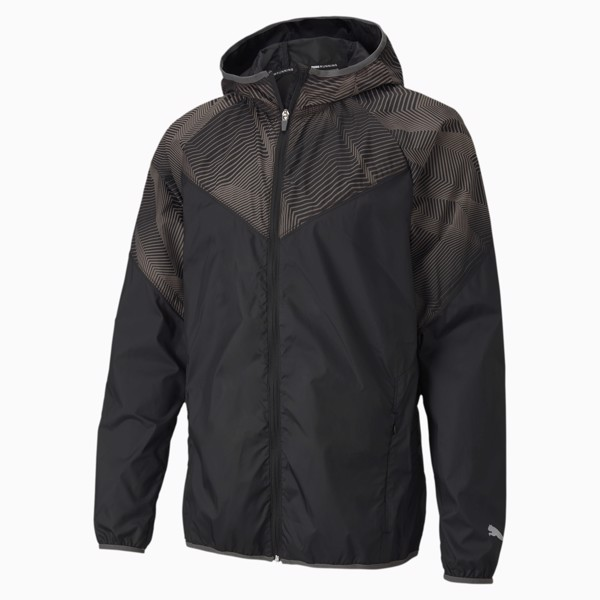 Puma Last Lap Graphic Running Jacket - Black