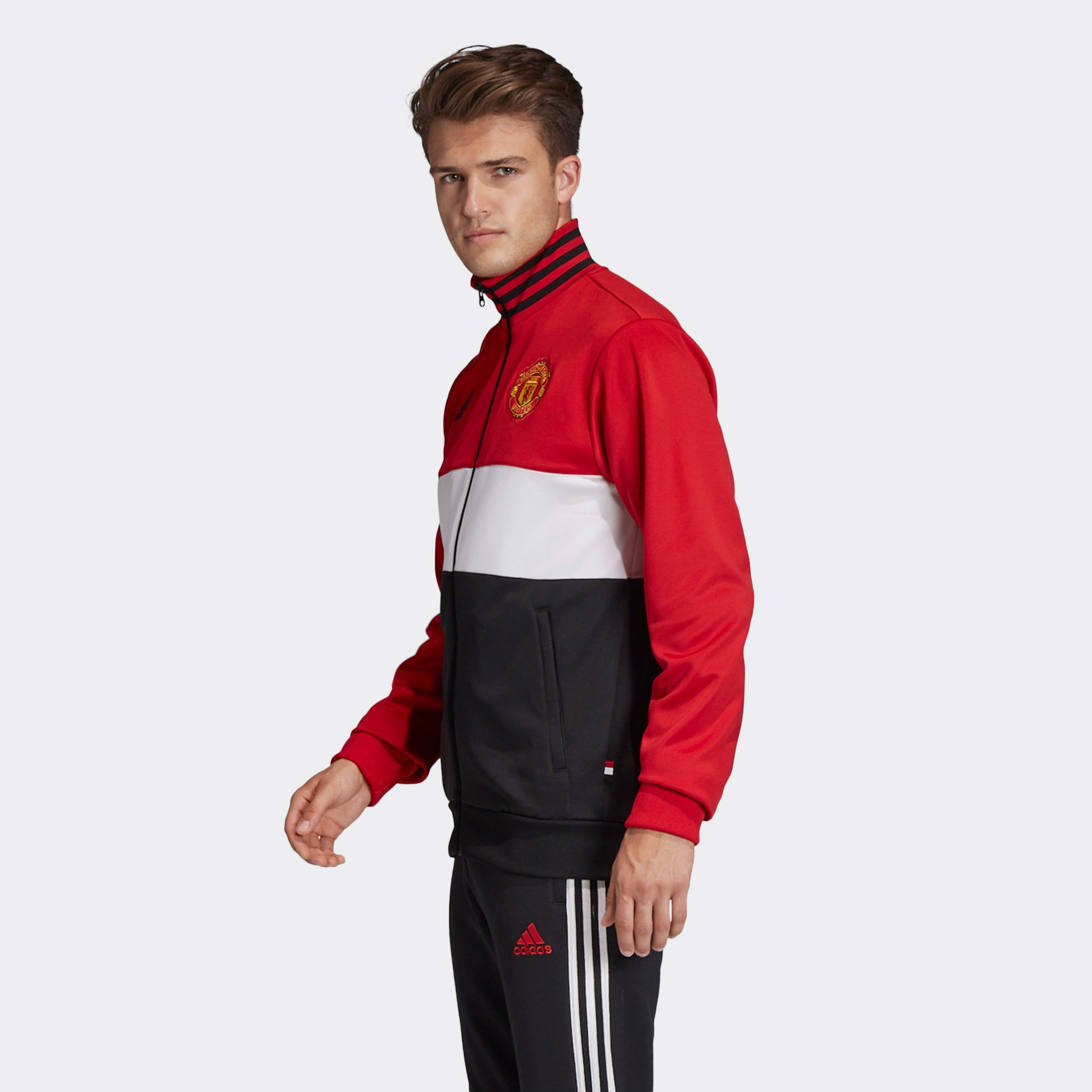 adidas Manchester United 3-Stripes Track Jacket