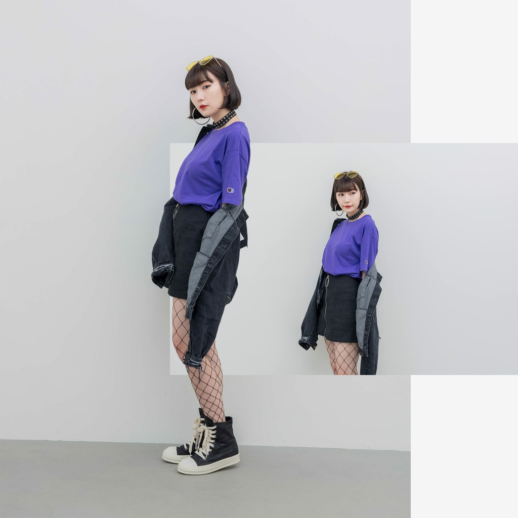 Champion T425 T-Shirt 'Purple'