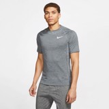 Nike Pro Short-Sleeve Top - Dark Smoke Grey