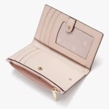 Kate Spade Spencer Glitter Small Slim Bifold Wallet - Rose Gold