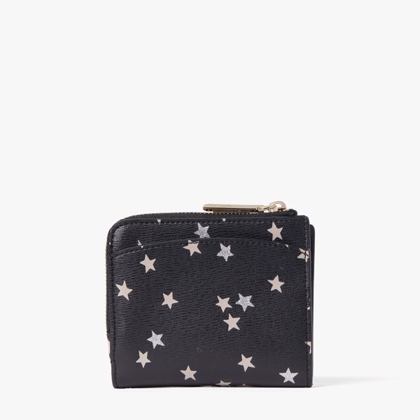 Kate Spade Spencer Confetti Stars Small Bifold Wallet - Black/Multi