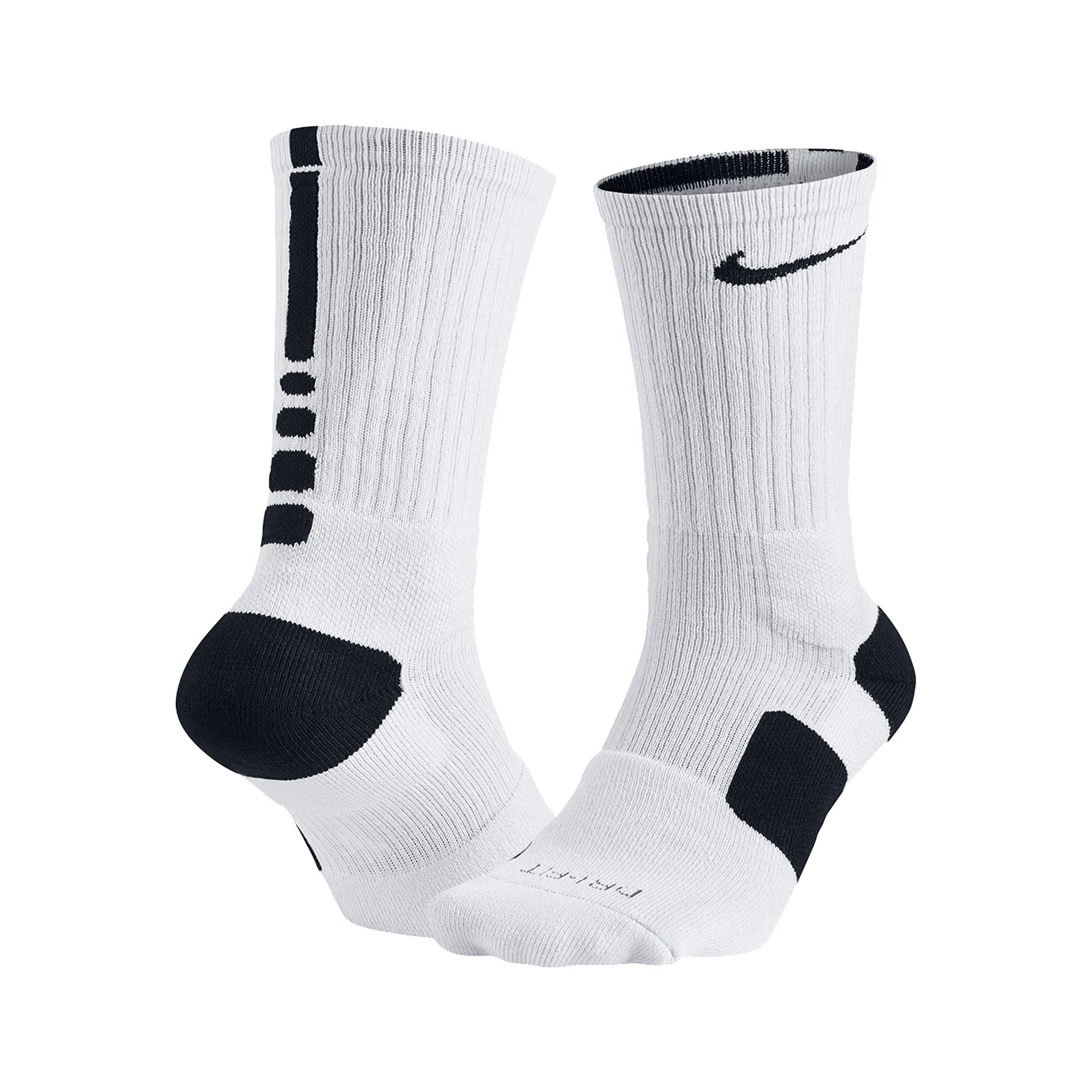 Nike Elite 1.0 Crew Basketball Socks - White