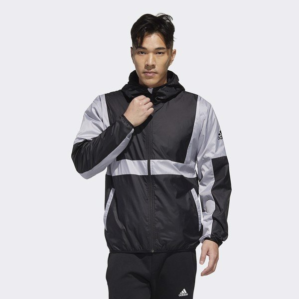 adidas Must Haves Colorblock Jacket - Black/Glory Gray
