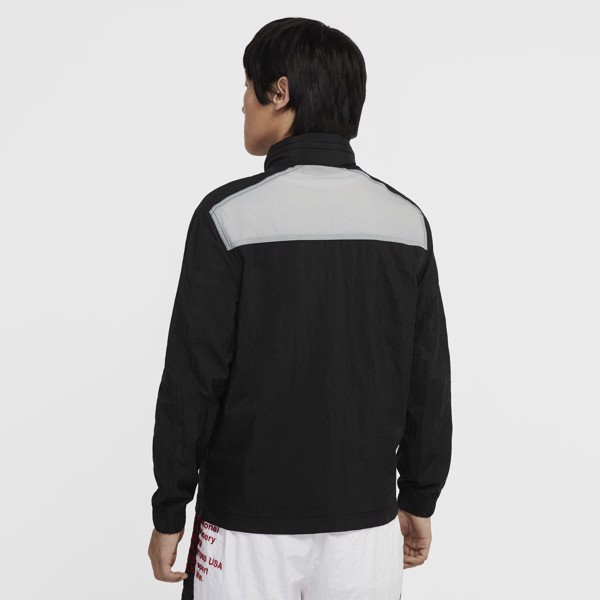 Nike Sportswear Hooded Jacket - Black/Grey