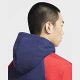 Nike Sportswear Windrunner+ Hooded Jacket - Midnight Navy/University Red