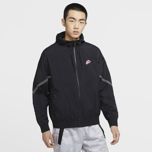 Nike Sportswear Windrunner+ Hooded Jacket - Black/Black