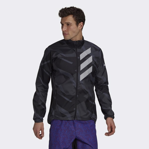 adidas Terrex Parley Agravic WIND.RDY Windbreaker - Grey Six