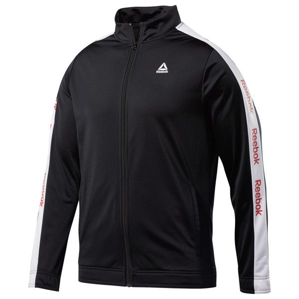 Reebok Essentials Linear Logo Track Jacket 'Black'