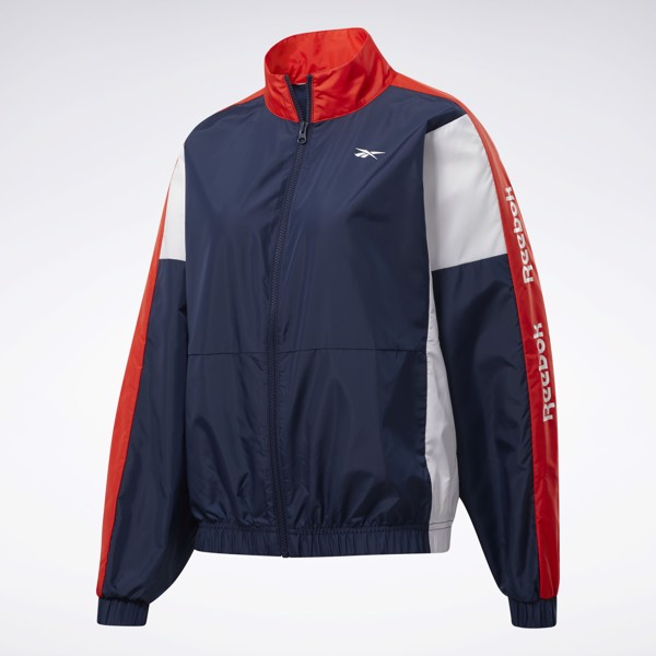 Reebok Training Essentials Woven Linear Logo Jacket - Vector Navy