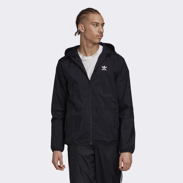 adidas Trefoil Essentials Windbreaker - Black