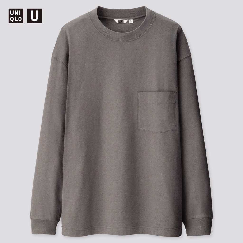 Uniqlo U Crew Neck Long-Sleeve 'Gray'