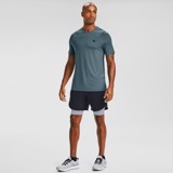 Under Armour RUSH™ HeatGear® Fitted Short Sleeve - Blue