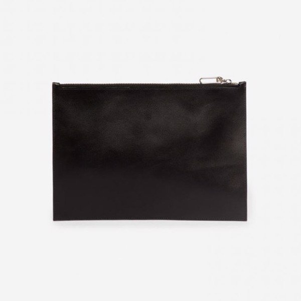 KENZO Square Logo Leather Pouch - Black